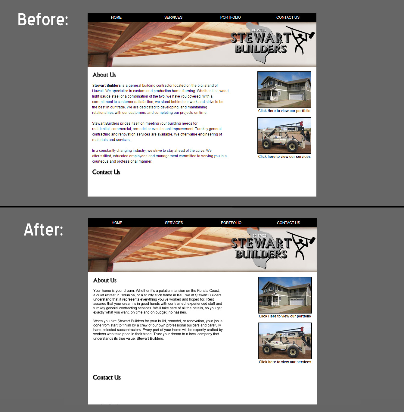 before and after webpage (JPEG)